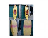 Kayak Riot Trickster avec pagaie - eau vive