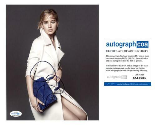 "Jennifer Lawrence ""Silver Linings Playbook"" AUTOGRAPH Signed 8x10 Photo ACOA"