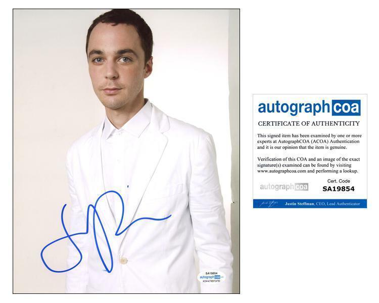 "Jim Parsons ""The Big Bang Theory"" AUTOGRAPH Signed 8x10 Photo I ACOA"