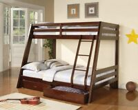 BRAND NEW IN BOX, Twin over Full Bunk Bed w/Free Storage Drawers