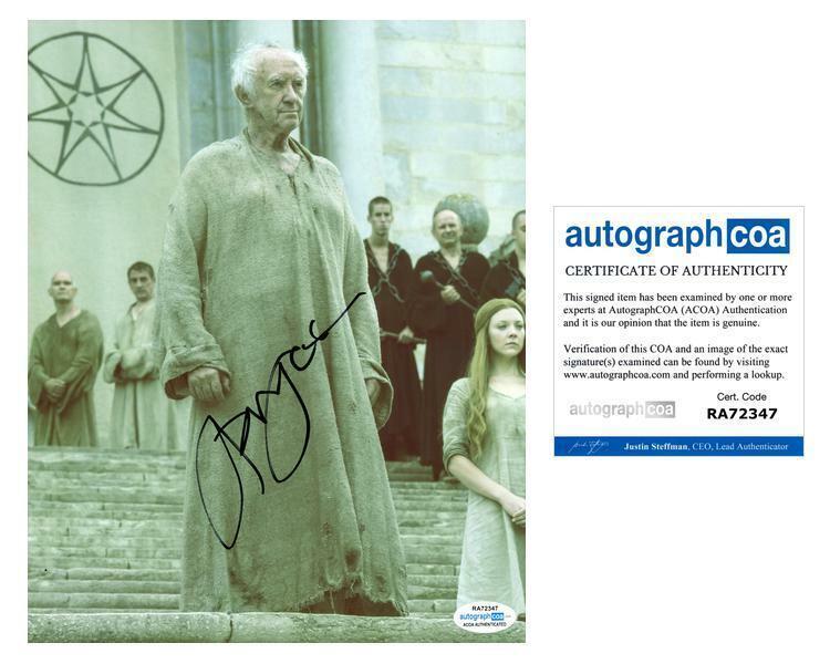 "Jonathan Pryce ""Game of Thrones"" AUTOGRAPH Signed 8x10 Photo B ACOA"