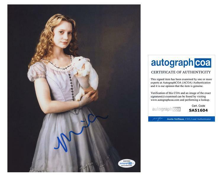 "Mia Wasikowska ""Alice in Wonderland"" AUTOGRAPH Signed 8x10 Photo C ACOA"