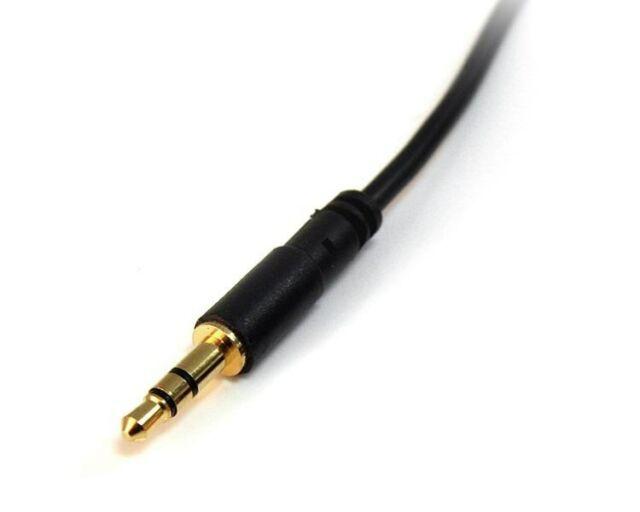 StarTech.com (15 feet) 3.5mm Stereo Audio Cable Male/Male (Black)