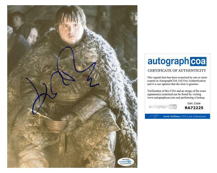 "John Bradley ""Game of Thrones"" AUTOGRAPH Signed 8x10 Photo B ACOA"