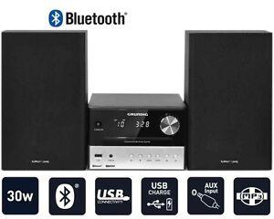 Grundig Hifi Kompakt Stereoanlage Bluetooth MP3 USB Musik Anlage silber schwarz