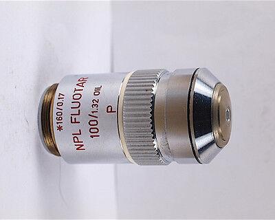 Leitz Npl Fluotar 100x Oil P Pol Strain-free Microscope Objective
