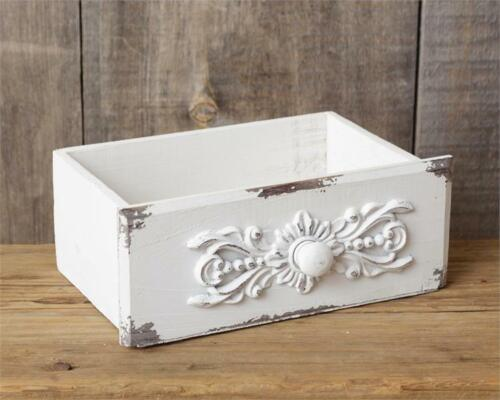 NEW Shabby White Chippy Drawer Box - French Country - Vintage Style