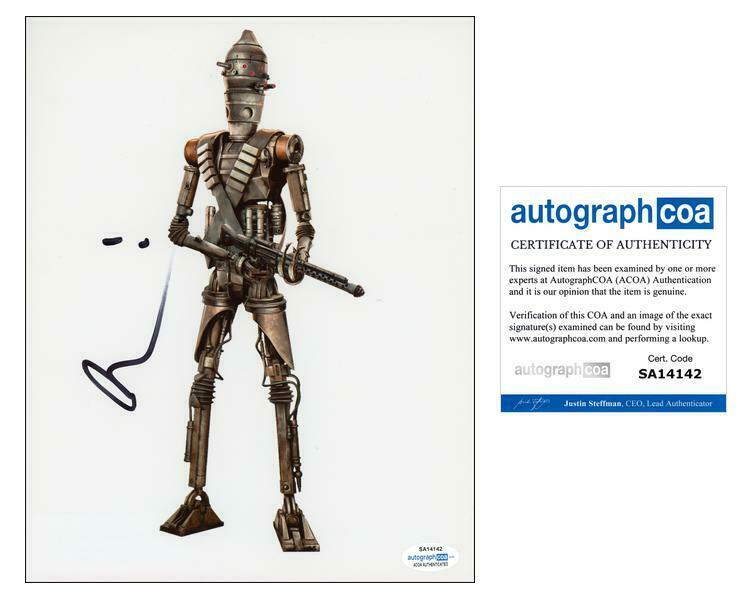 "Taika Waititi ""The Mandalorian"" AUTOGRAPH Signed 'IG-11' 8x10 Photo B ACOA"