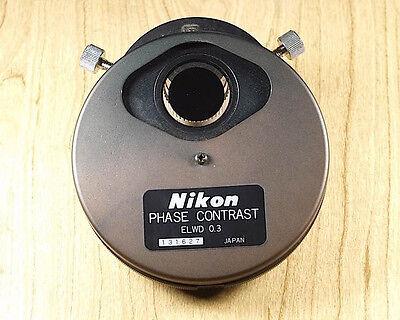 Nikon Phase Contrast Elwd 0.3 Microscope Condenser Ph1 Ph2 Ph3 Phl Turret