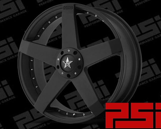 "20"" INCH KMC ROCKSTAR WHEELS X1 RIMS ALLOYS KM775"