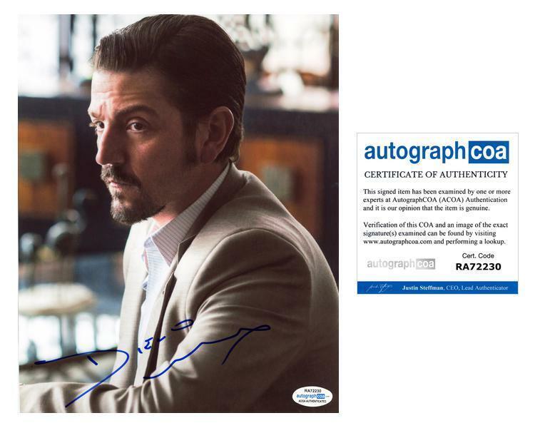"Diego Luna ""Narcos: Mexico"" AUTOGRAPH Signed 8x10 Photo ACOA"