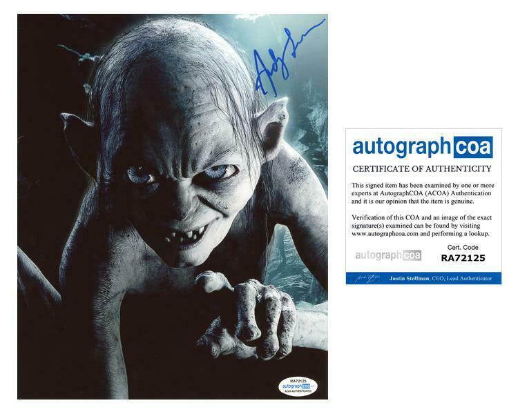 """Andy Serkis """"Lord of the Rings"""" AUTOGRAPH Signed 8x10 Photo D ACOA"""