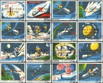Haiti 1143A-1158A (kompl.Ausg.) gestempelt 1971 Rückkehr von Apollo13