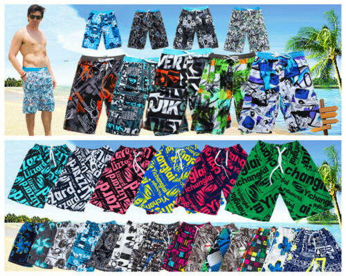 QUICK-DRY Men's Surf Board Shorts Casual Shorts Swim Beach Trunks (Free Size)