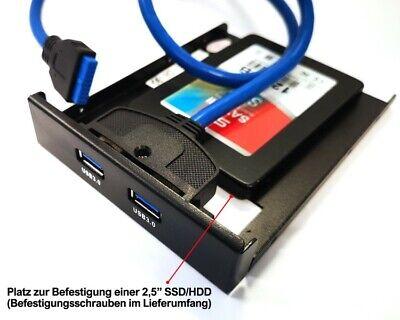 2 Port USB 3.0 HUB 3,5 Zoll intern Superspeed Verteiler Adapter Frontpanel 3,5