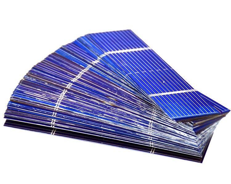 100 celle solari policristalline fai da te 0.5 0.2w 52x26mm cell Solar Panel DIY