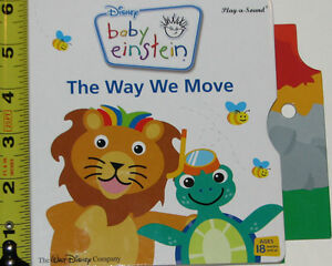 2 Baby Einstein Way Move & Hear Music BOARD Books