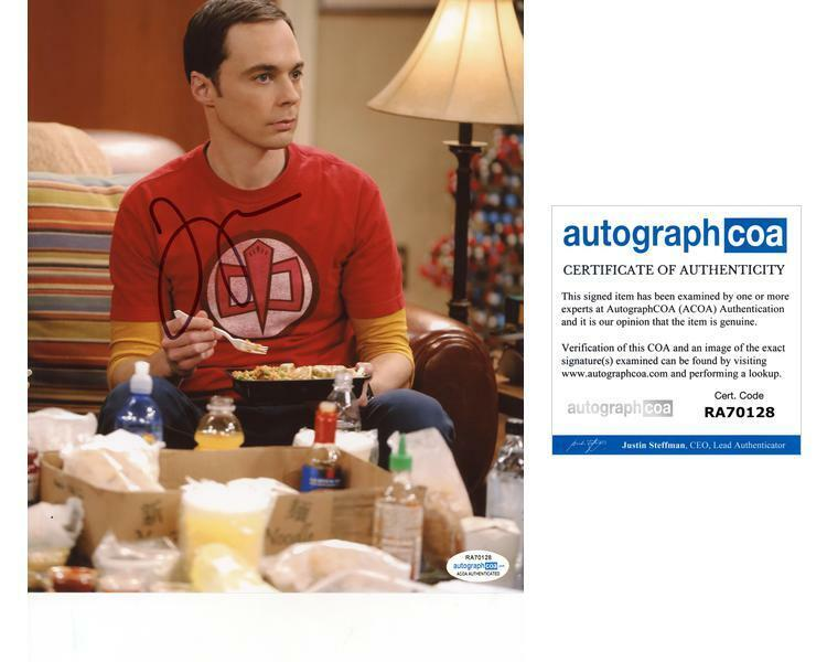 "Jim Parsons ""The Big Bang Theory"" AUTOGRAPH Signed 8x10 Photo E ACOA"