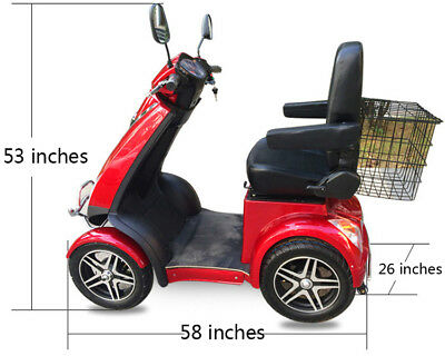 Mobility Scooter 4 Wheel - SCOOTERZ1000 - Travels Up To 20 mph, 1000 watt Motor ()