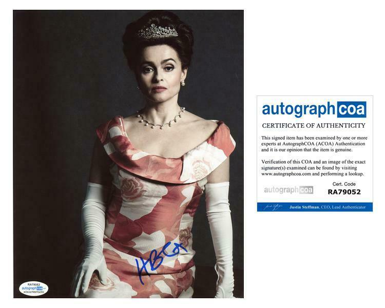 "Helena Bonham Carter ""The Crown"" AUTOGRAPH Signed 8x10 Photo ACOA"