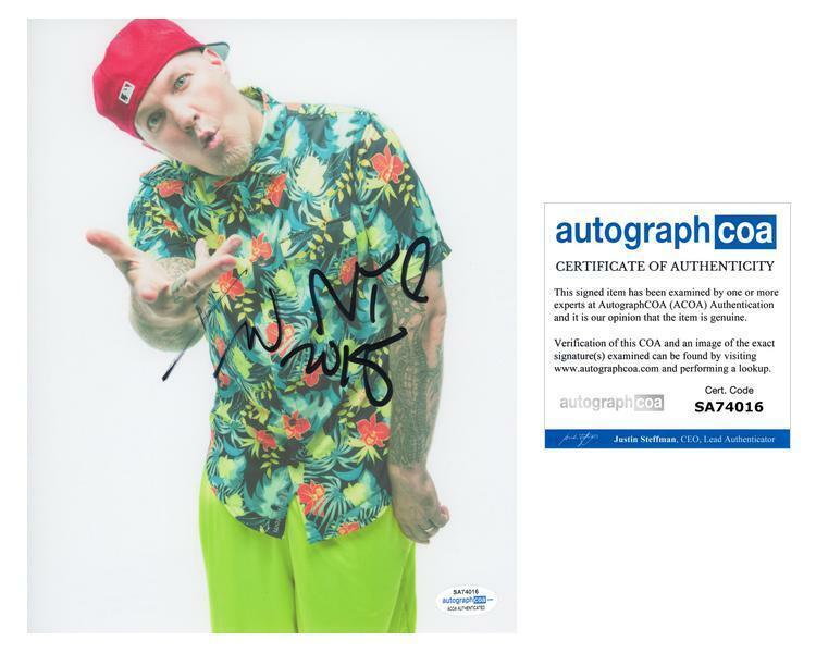 """Fred Durst """"Limp Bizkit"""" AUTOGRAPH Signed 8x10 Photo ACOA"""