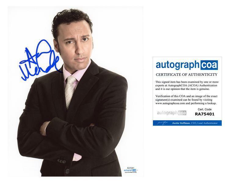 "Aasif Mandvi ""Evil"" AUTOGRAPH Signed 8x10 Photo ACOA"