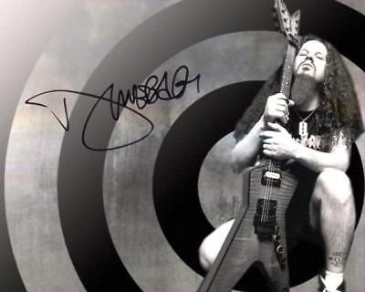REPRINT - DIMEBAG DARRELL Pantera Signed 8 x 10 Glossy Photo Poster RP