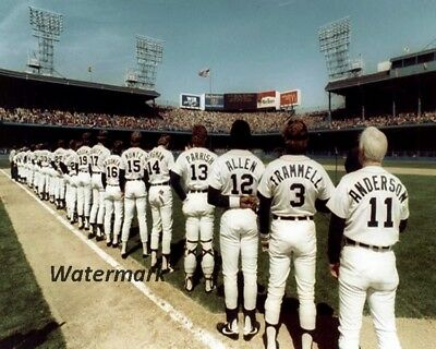 MLB 1984 Detroit Tigers Pre Game Ceremonies Color 8 X 10 Photo Pic Free Shipping