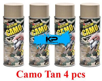 Plasti Dip Camo Tan Rubber Coating Wheel Rim Kit Spray Aerosol Cans 4 Pack 11oz