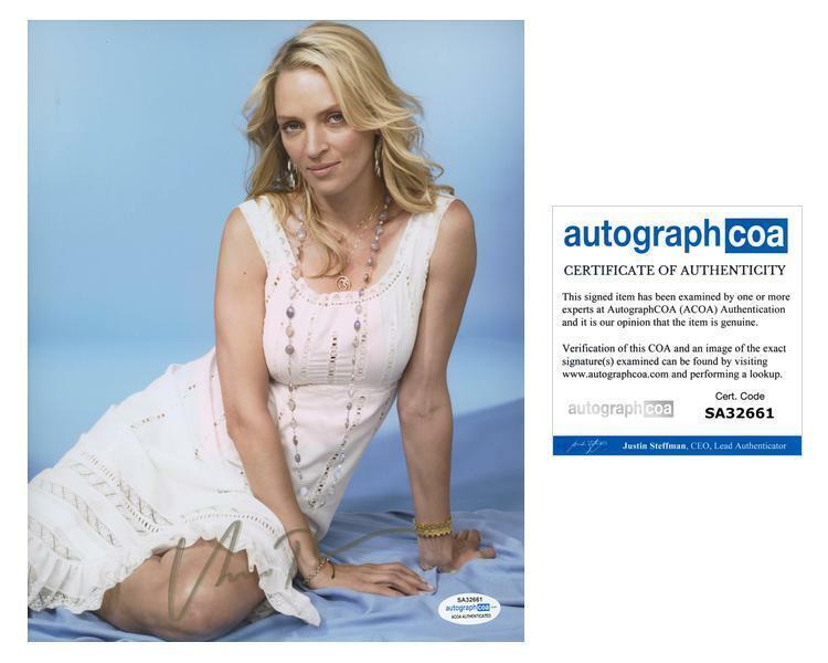 """Uma Thurman """"Prime"""" AUTOGRAPH Signed 8x10 Photo ACOA"""