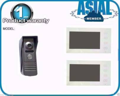 7' 2 x Touch Pad Screen + 1 Outdoor station Colour Video Intercom