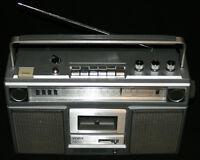 1980's Yorx Ghetto Blaster AM / FM Radio, Cassette & 8-Track