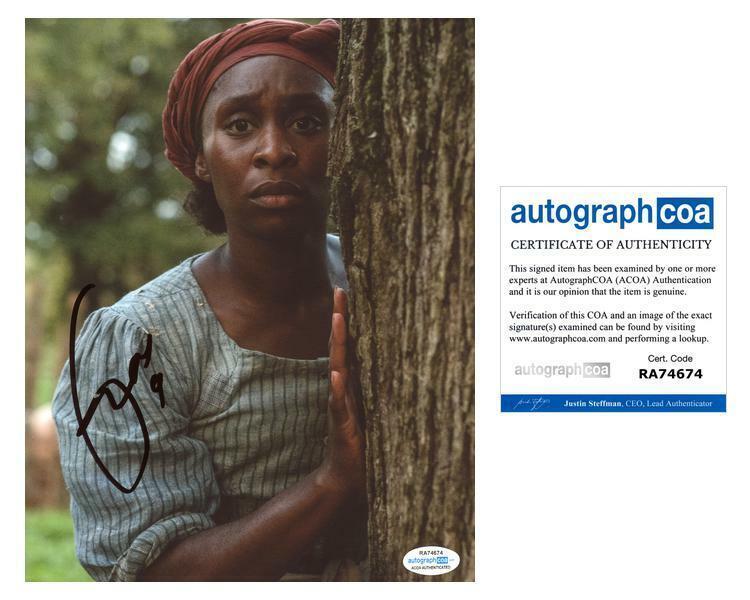 "Cynthia Erivo ""Harriet"" AUTOGRAPH Signed 8x10 Photo C ACOA"