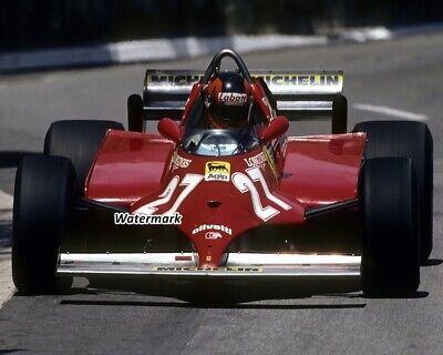 1981 F1 Formula One Gilles Villeneuve Red Ferrari Color 8 X 10 Photo Picture