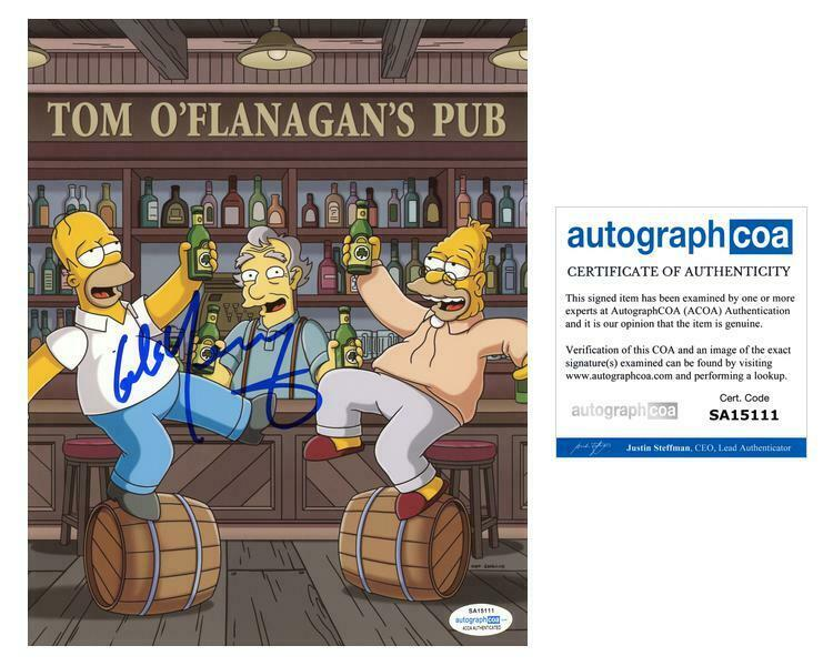 """Colm Meaney """"The Simpsons"""" AUTOGRAPH Signed 'Tom O'Flanagan' 8x10 Photo ACOA"""