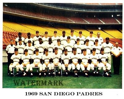 MLB 1st Season 1969 San Diego Padres Color Team Picture 8 X 10 Photo