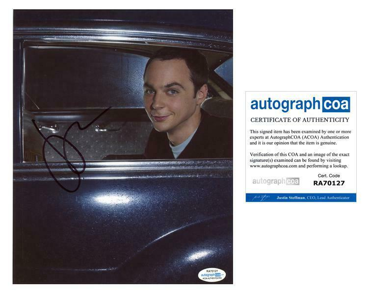 "Jim Parsons ""The Big Bang Theory"" AUTOGRAPH Signed 8x10 Photo F ACOA"