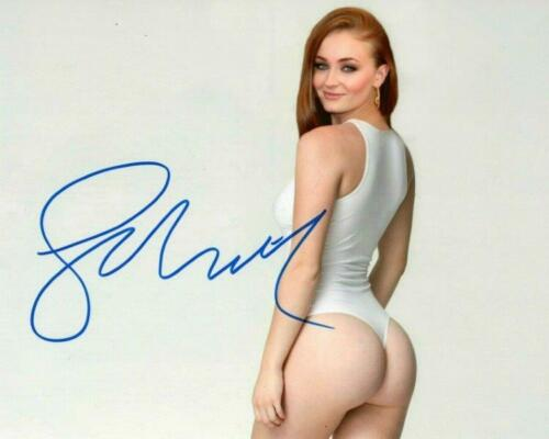 REPRINT - SOPHIE TURNER Hot Sexy Game of Thrones Signed 8 x 10 Photo Poster