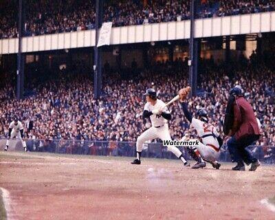 MLB 1973 Bobby Murcer Batting Carlton Fisk Behind Plate Color 8 X 10 Photo Pic Carlton Fisk Plate