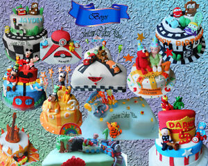 Unique Custom Cakes with 3D characters, Cupcakes,Cookies & More