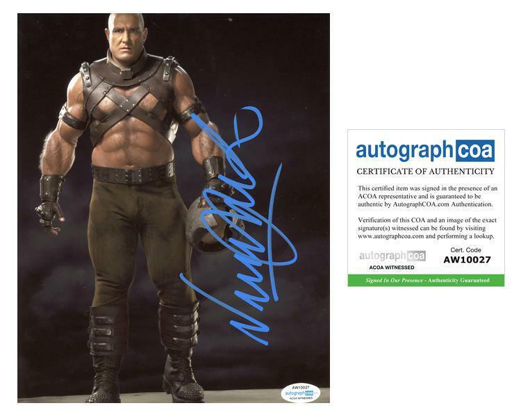 "Vinnie Jones ""X-Men"" AUTOGRAPH Signed 'Juggernaut' 8x10 Photo B ACOA Witness ITP"