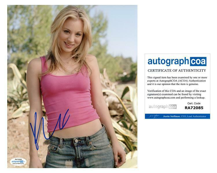 "Kaley Cuoco ""The Big Bang Theory"" AUTOGRAPH Signed 8x10 Photo B ACOA"