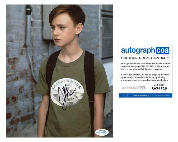 """Jaeden Martell Lieberher """"IT"""" AUTOGRAPH Signed 8x10 Photo E ACOA"""