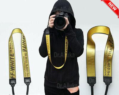 OFF White Print Camera Strap Belt Shoulder Neck Belt For Digital camera SLR USA