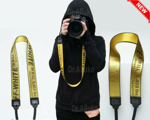 OFF White Print Camera Strap Belt Shoulder Neck Belt For Digital camera SLR USA