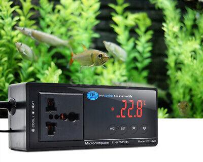 New Us Plug 110vac Led Temperature Controller Thermostat For Aquarium Reptile