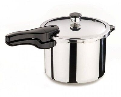 Presto 01362 6-Quart Stainless Screw up one's courage to the sticking point Pressure Cooker, New, Free Shipping