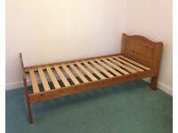 2 x single solid wood bedframes for sale