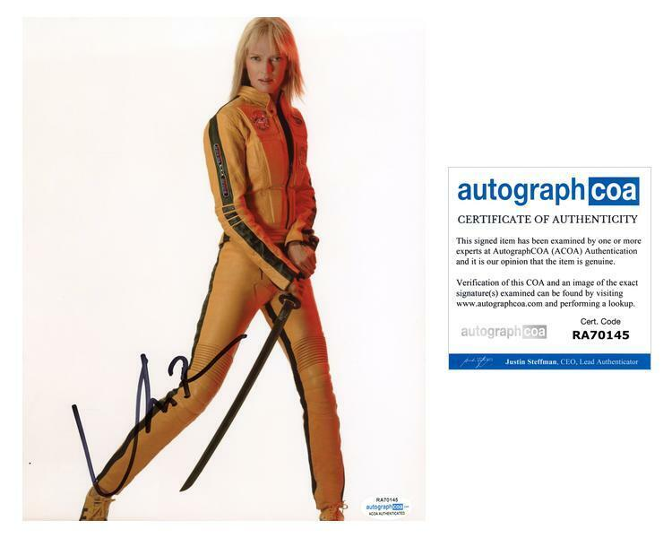 "Uma Thurman ""Kill Bill"" AUTOGRAPH Signed 8x10 Photo ACOA"