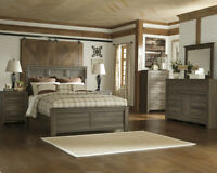 6pc queen Ashley furniture bedroom set priced to move
